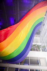 Giant Pride Flag - Poof Doof Sydney // Photographer: Markham Lane