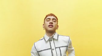 Olly Alexander Posing With Yellow Background
